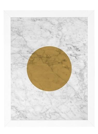 Nordbagen Marble Gold Poster Beyaz